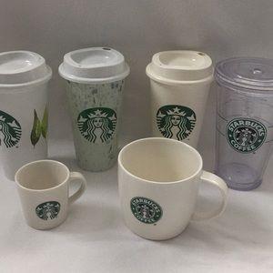 Lot of Starbucks 6 Mugs Cups
